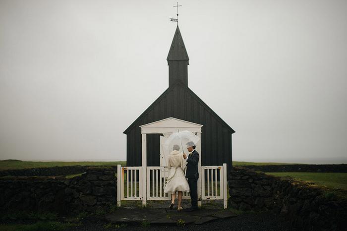 Picture Of breathtaking icelandic black church elopement  23