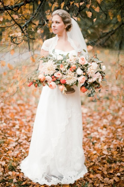 Breathtakingly Gorgeous Autumn Wedding Inspirational Shoot
