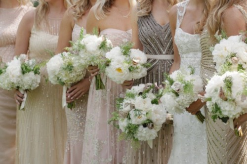 Breathtakingly Gorgeous Embellished Bridesmaids' Dresses