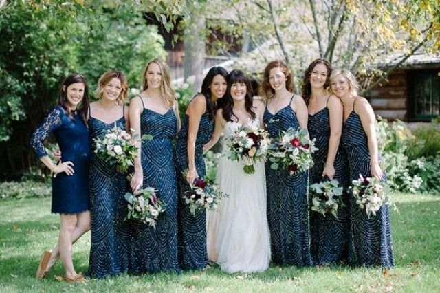 Picture Of breathtakingly gorgeous embellished bridesmaids dresses  13