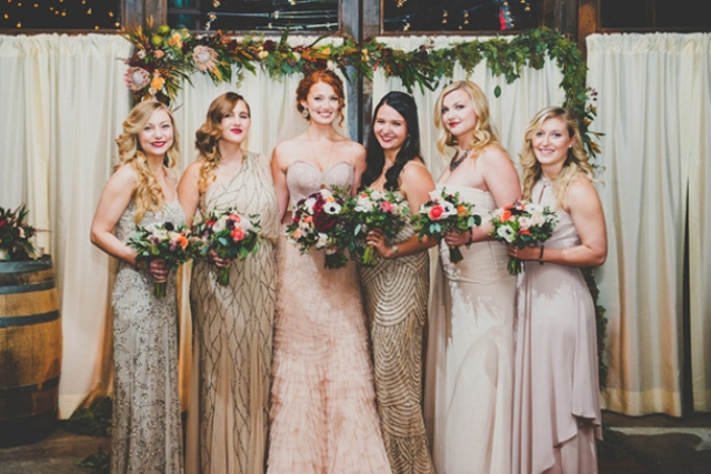 Picture Of breathtakingly gorgeous embellished bridesmaids dresses  2