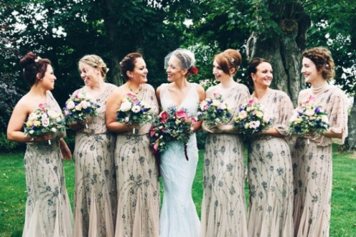 27 Breathtakingly Gorgeous Embellished Bridesmaids' Dresses