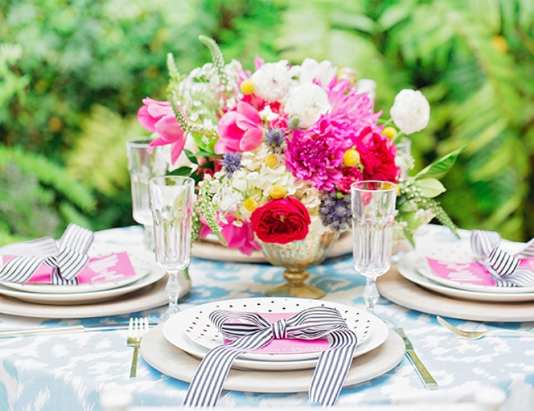 Picture Of bright and cheerful champagne bridal brunch inspiration  1