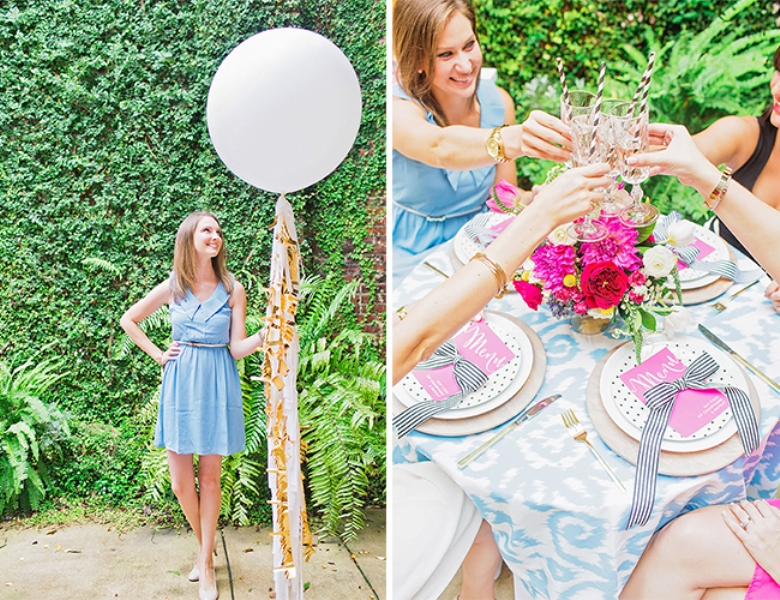 Picture Of bright and cheerful champagne bridal brunch inspiration  11