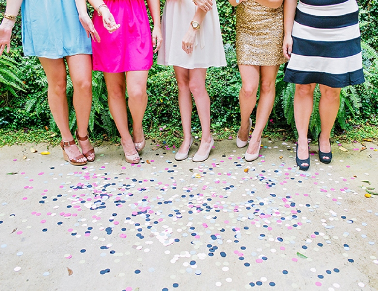 Picture Of bright and cheerful champagne bridal brunch inspiration  12