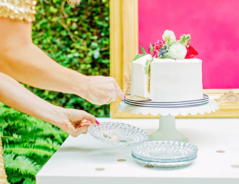 Picture Of bright and cheerful champagne bridal brunch inspiration  3