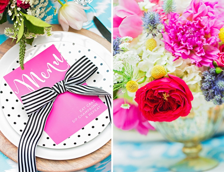 Picture Of bright and cheerful champagne bridal brunch inspiration  5