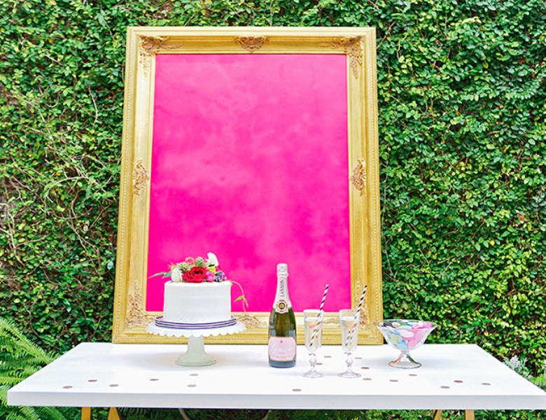 Picture Of bright and cheerful champagne bridal brunch inspiration  6