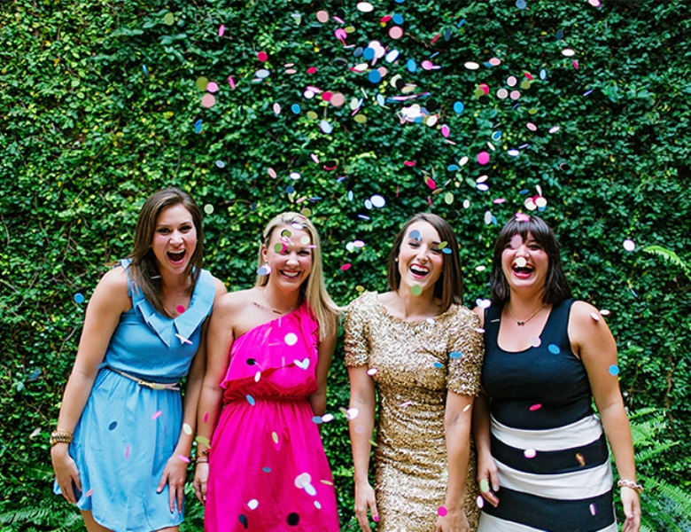 Picture Of bright and cheerful champagne bridal brunch inspiration  7
