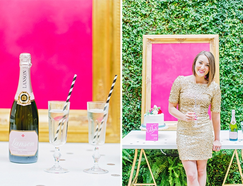 Picture Of bright and cheerful champagne bridal brunch inspiration  8