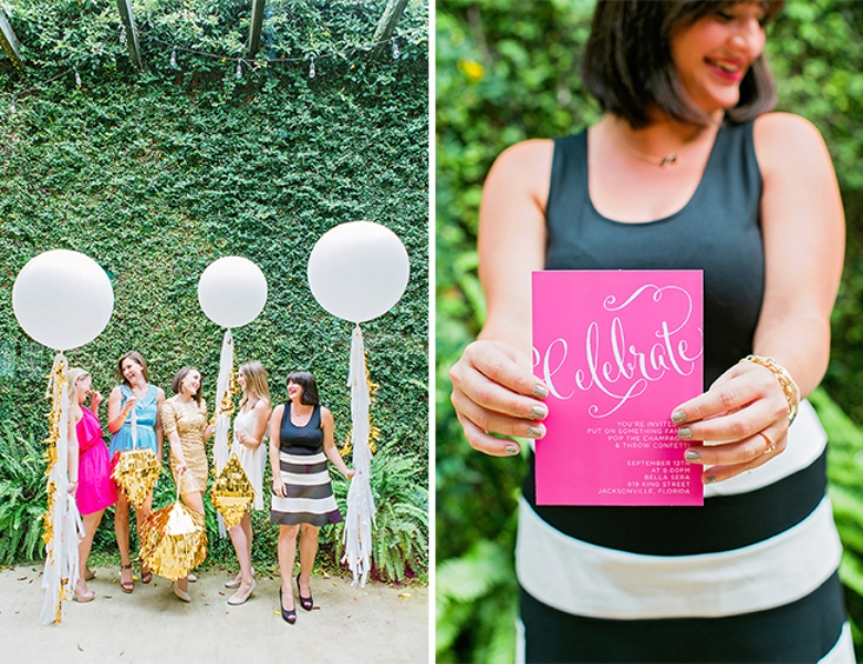 Picture Of bright and cheerful champagne bridal brunch inspiration  9
