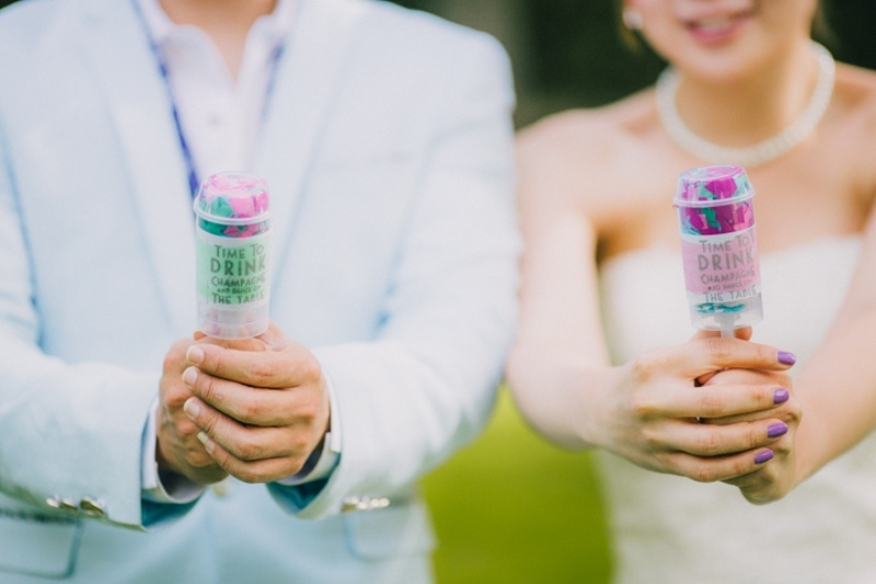 Picture Of bright and cheerful diy push pop confetti to make  2