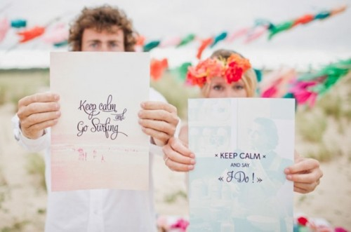 Bright And Fancy Surf-Inspired Beach Wedding Shoot