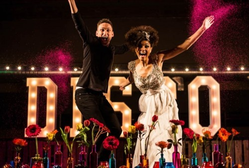 Bright And Fun 70's Disco Inspired Wedding With An Industrial Feel