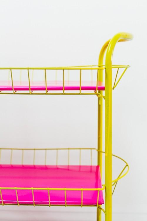 Bright And Fun DIY Bar Cart For Your Wedding