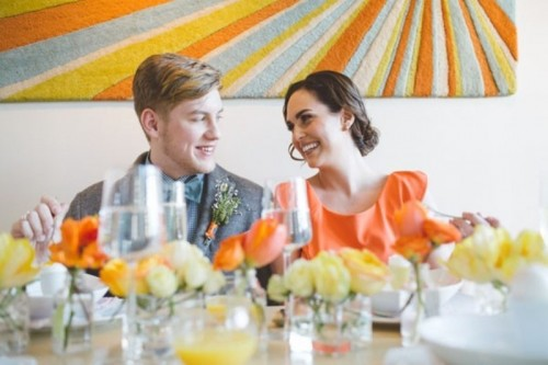 Bright And Modern Intimate Brunch Wedding Inspiration