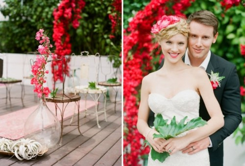 Bright And Playful Fuchsia And Green Summer Wedding Inspiration