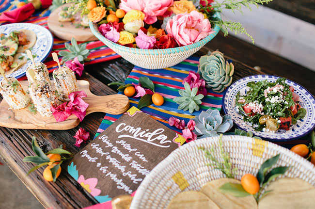 Picture Of bright cinco de mayo wedding inspirational shoot 21