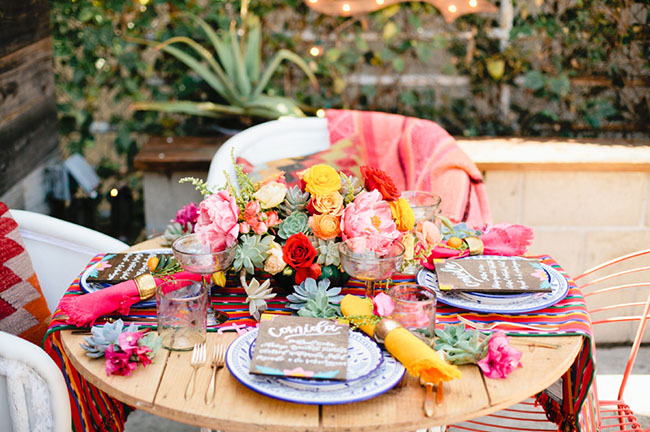 Picture Of bright cinco de mayo wedding inspirational shoot 4