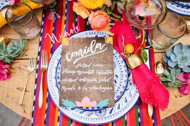 Picture Of bright cinco de mayo wedding inspirational shoot 5