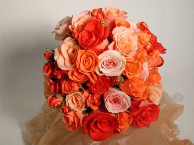 Orange Wedding Bouquets 39 Bright Orange Bridal