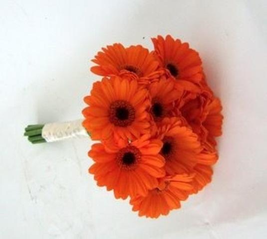 Picture Of Bright Orange Bridal Bouquets