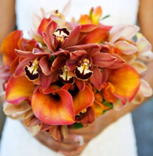 39 Bright Orange Bridal Bouquets
