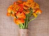 Bright Orange Bridal Bouquets