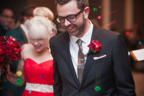 Bright Red Wedding In Chicago With Tattoos Incorporated