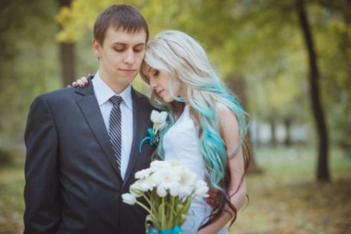 Budget Friendly Wedding In The Ukraine With Blue Touches