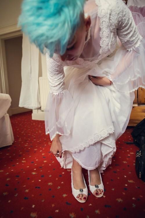Budget Rockabilly Alice In Wonderland Wedding