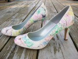 DIY butterfly print shoes