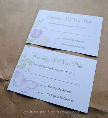 butterfly invitations (via do-it-yourself-invitations)