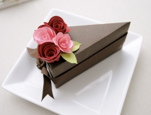 Cake Slice Boxes For Guest Favors