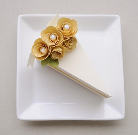 Cake Slice Boxes For Guest Favors Weddingomania