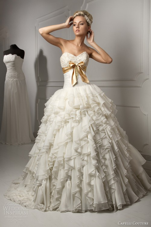 Wedding Dresses With Rhinestones 94 Fancy Capelli Couture Wedding Dresses