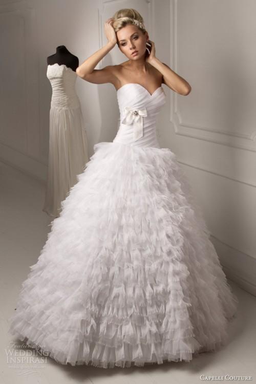 Vintage Ruffle Wedding Dress 87 Unique Capelli Couture Wedding Dresses