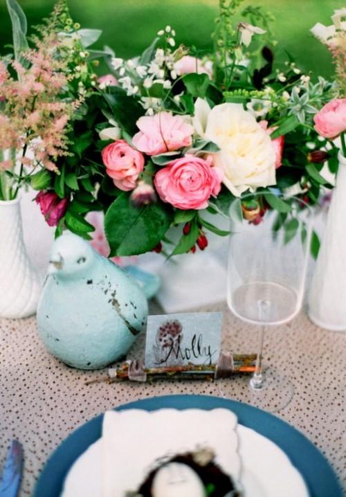 Charming Bird Themed Wedding Inspiration