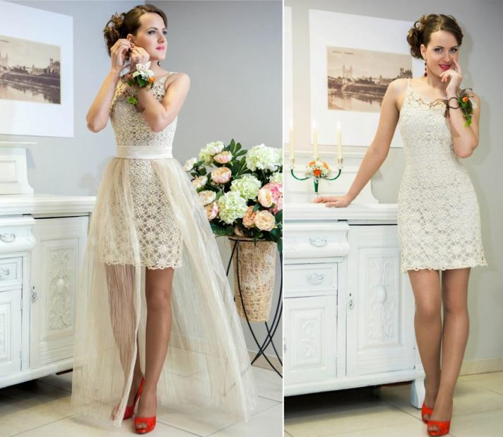 Charming Crocheted Wedding Dresses