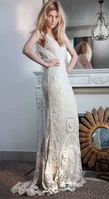 20 charming crocheted wedding dresses weddingomania charming crocheted wedding dresses junglespirit Images