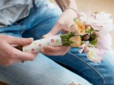 Charming Diy Note Wrapped Flowers For Bridesmaids