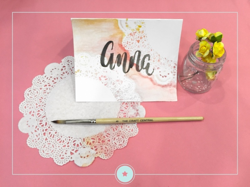 Picture Of charming diy wedding place cards with paper doilies  2