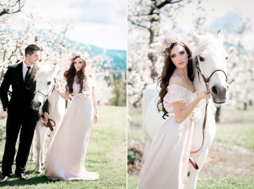 Charming Elopement Wedding Inspiration In A Blossoming Orchard
