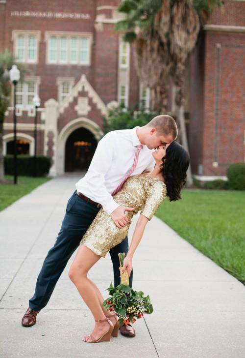 Charming Gold Pink Maroon Wedding Shoot