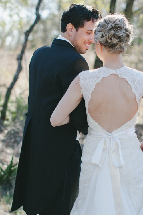 41 Charming Keyhole Back Wedding Dresses