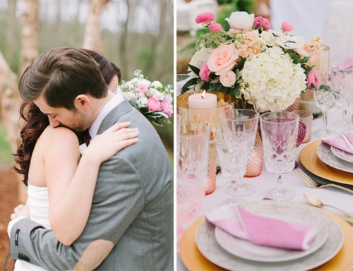 Charming Pink And White Wedding Under A Tent