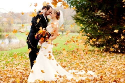 Charming Purple And Orange Fall Wedding Inspiration