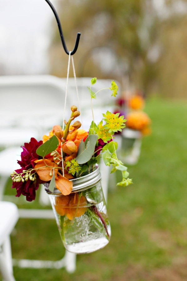 Picture Of Charming Purple And Orange Fall Wedding