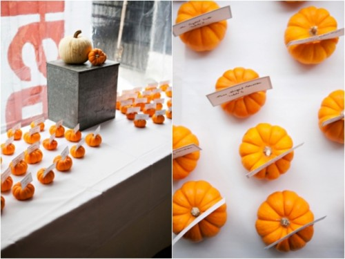 Charming Purple And Orange Fall Wedding