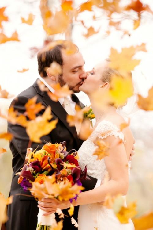 Charming Purple And Orange Fall Wedding